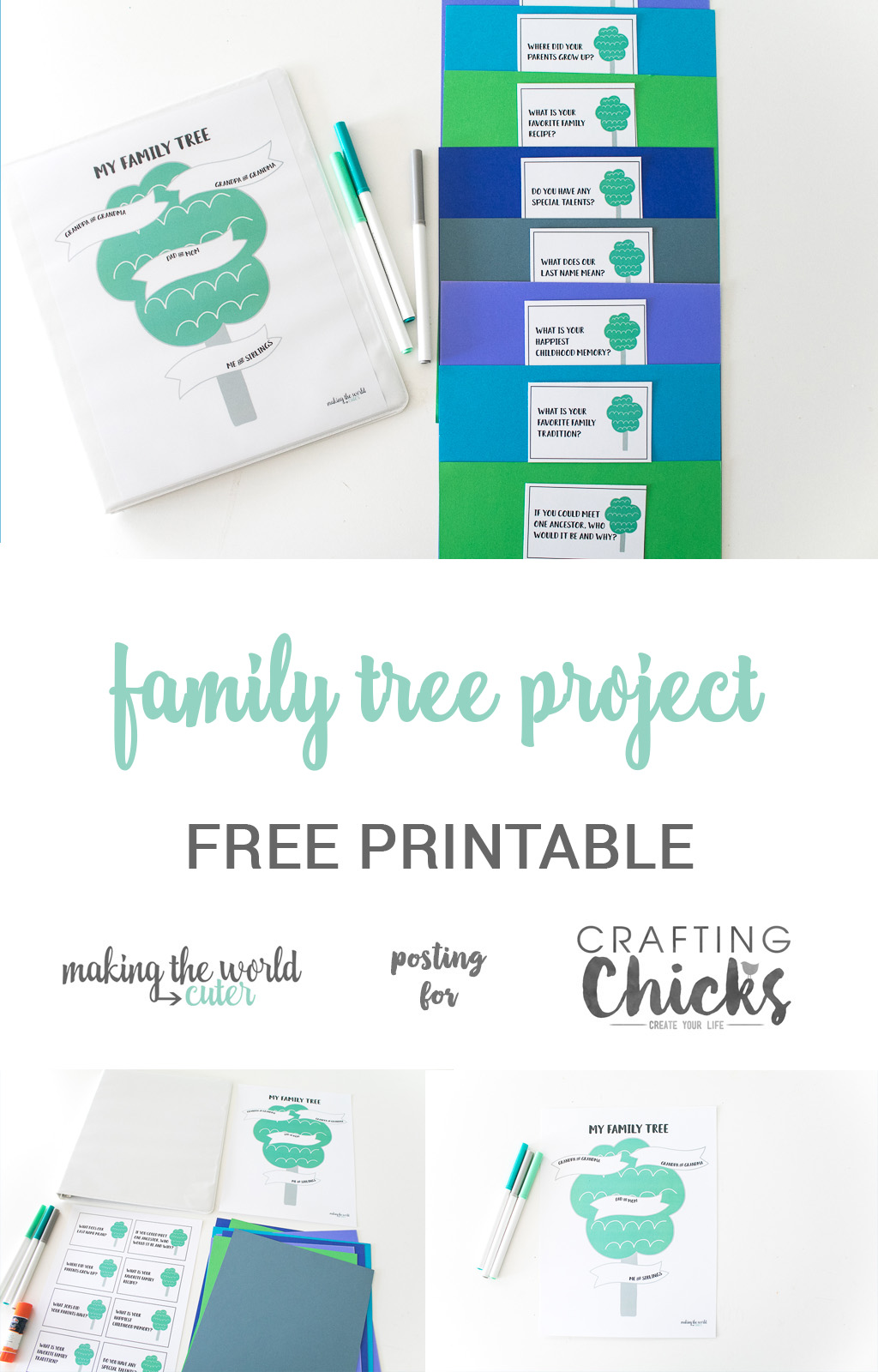 family tree project for kids with free printable the crafting chicks