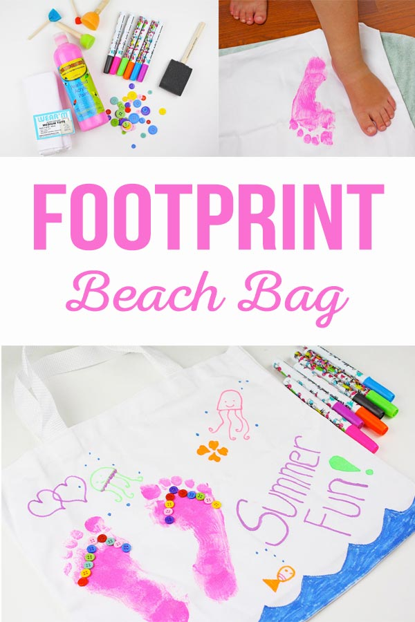 Footprint Beach Bag
