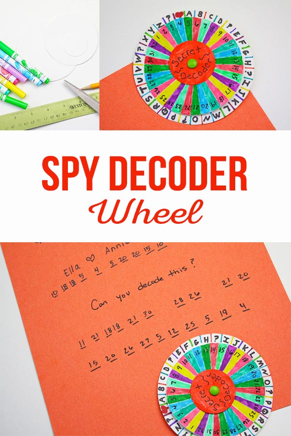 photo about Printable Decoder Wheel titled Spy Decoder Wheel - The Producing Chicks