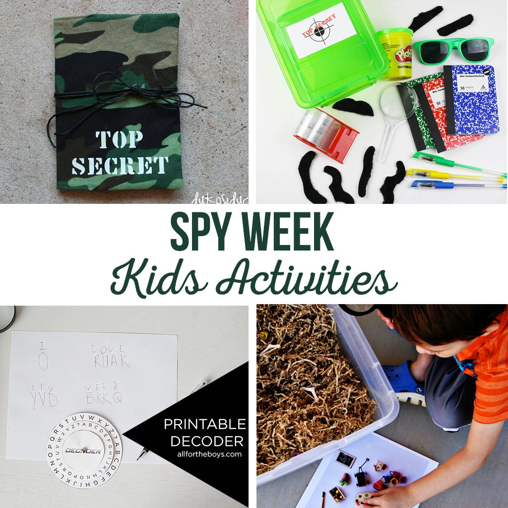 Spy Week Kids Activities | Let your kids become detectives or secret agents for the day with these kids activities, games and free printables. #spy #kids #activities #printables #games #secretagent #detective #spykids #spyweek