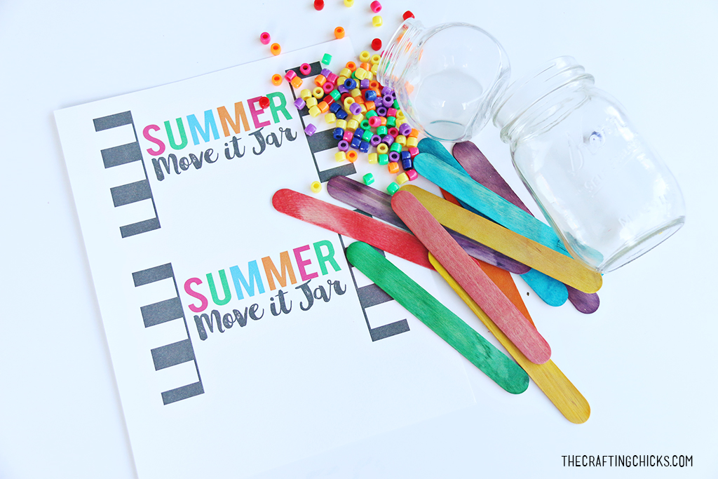Summer Move it Jars to help get your kids moving this summer! This is a fun way to get kids excited about physical exercise at home.