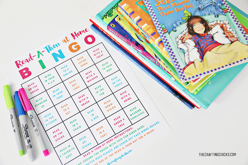 Read A Thon Bingo Printable Game