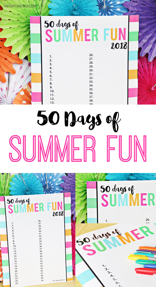 Summer Fun Chart Free Printable