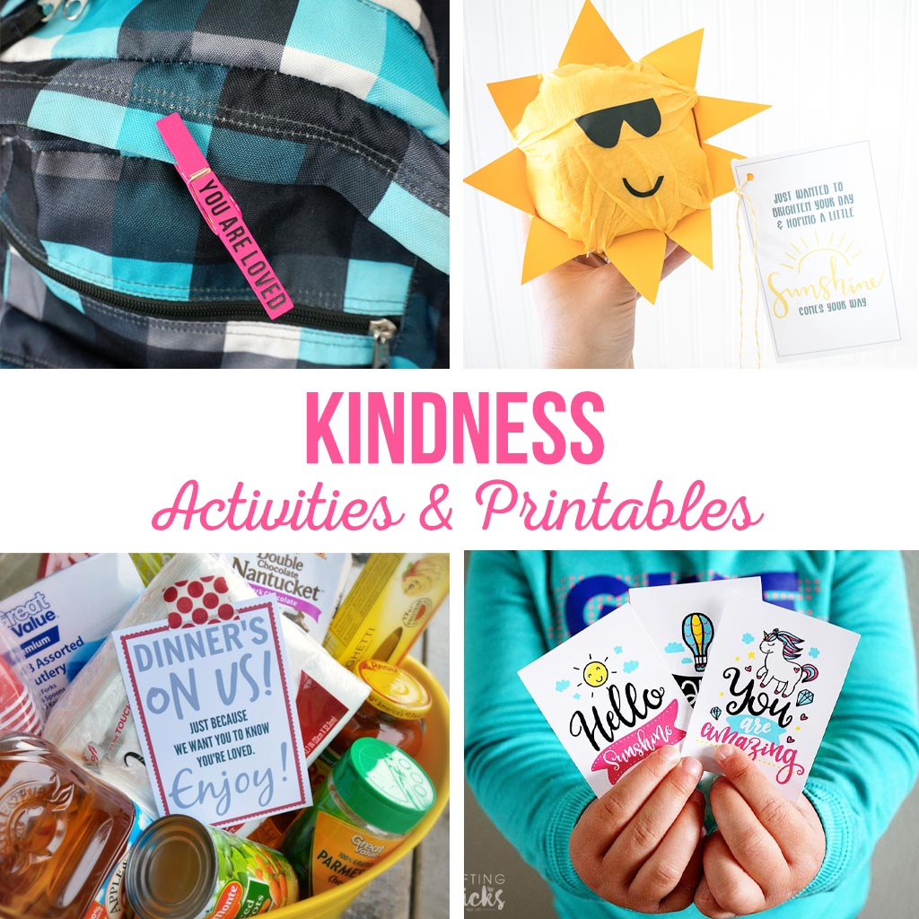 Random Act of Kindness | Activities and printables to help teach kindness. Simple activities that kids can do to spread happiness and serve others. #raok #kindness #bekind #activities #kids #printables