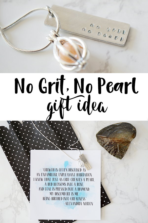 No Grit No Pearl necklace gift idea