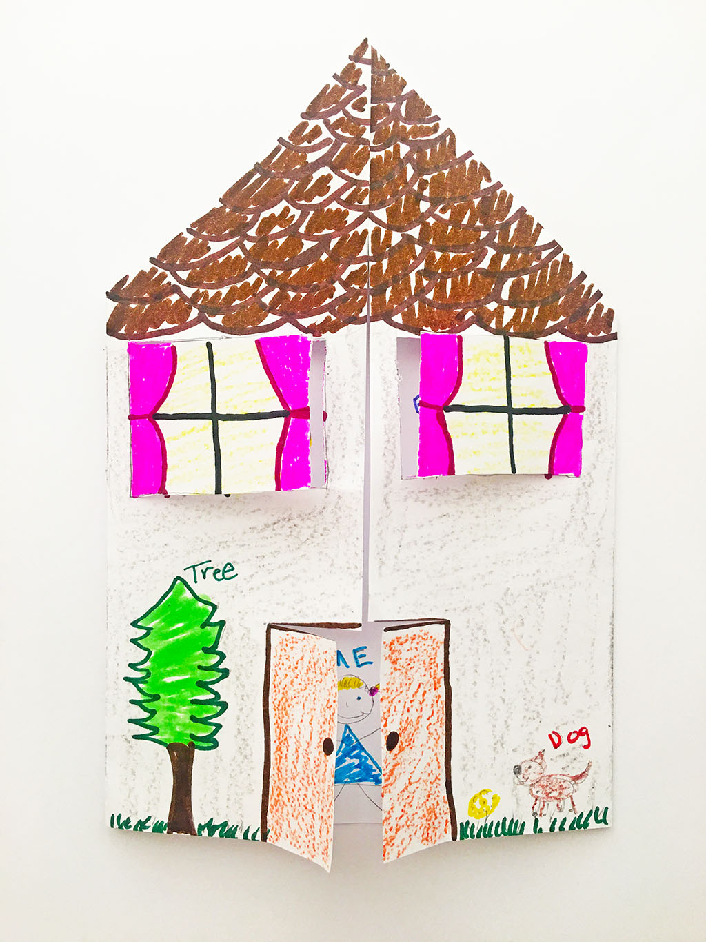My Family Paper House Craft