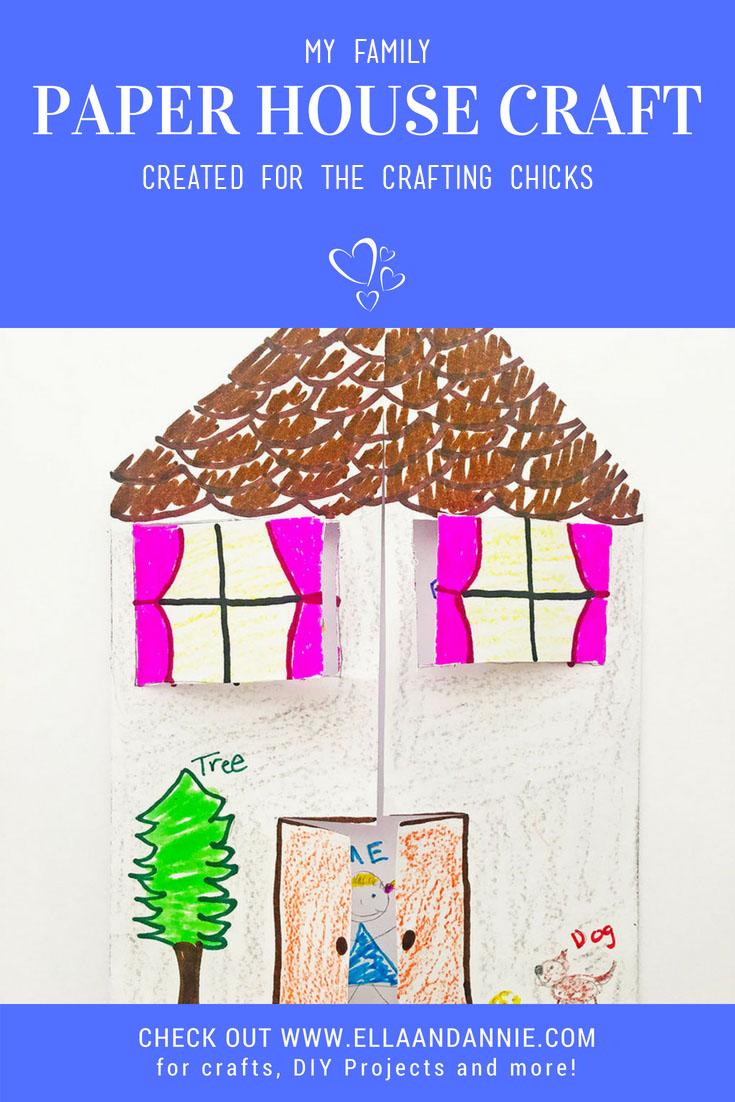 Paper House Craft | Kids will love learning about their family tree while making their very own paper house craft! #kids #craft #paper #house #activity #family #tree