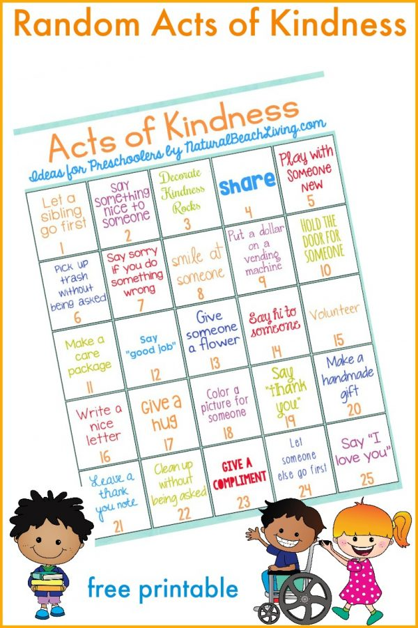 Random Acts of Kindness for Preschoolers