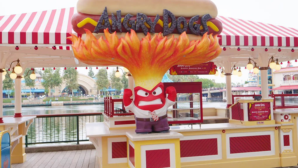 Angry Dogs Sign at Disney California Adventure Park