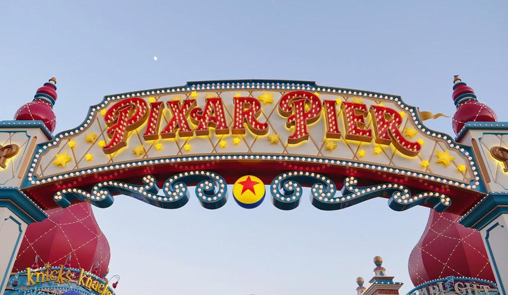 Pixar Pier sign at Disney California Adventure Park