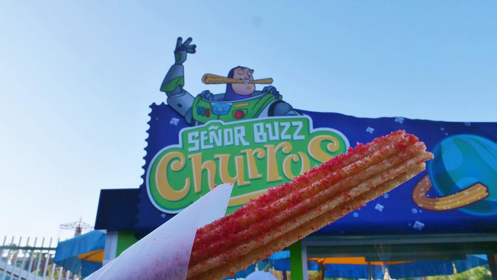 Señor Buzz Churros sign at Disney California Adventure Park