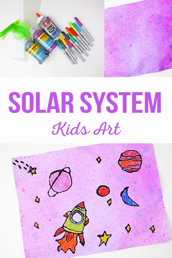Solar System Kids Art