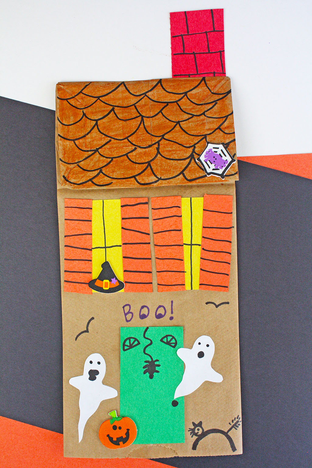 Paper Bag Haunted House Craft