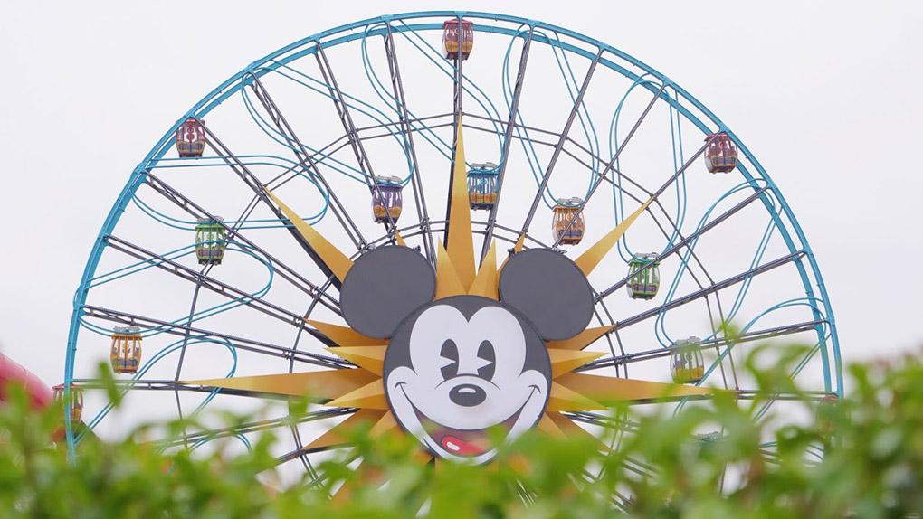 Mickey Mouse ferris wheel at Disney California Adventure Park