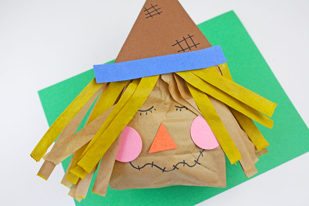 Paper Bag Scarecrow Craft The Crafting Chicks