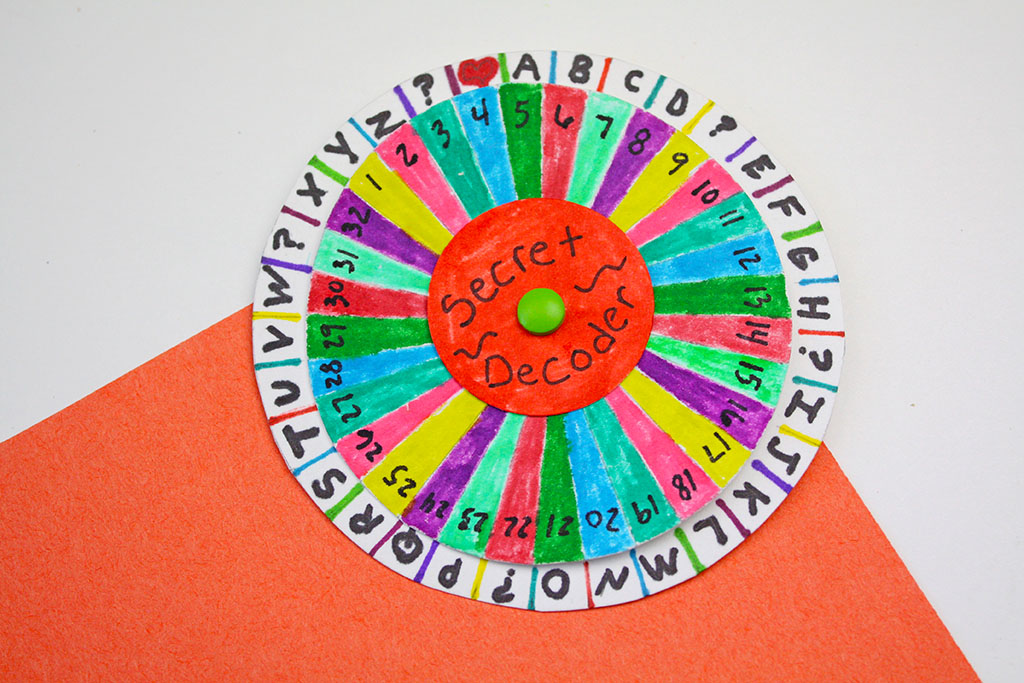 image regarding Printable Decoder Wheel titled Spy Decoder Wheel - The Composing Chicks
