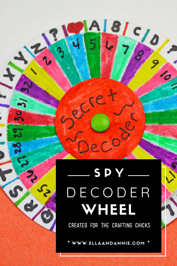 image about Printable Decoder Wheel called Spy Decoder Wheel - The Creating Chicks