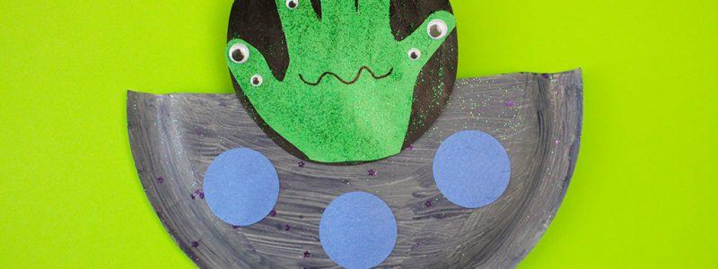 UFO Paper Plate Craft