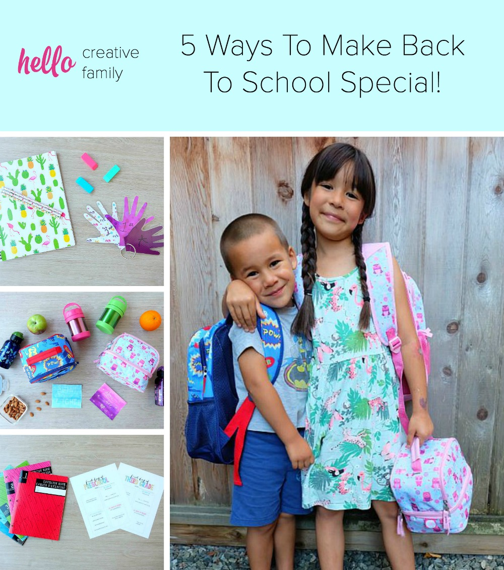 5 ways to make back to school special