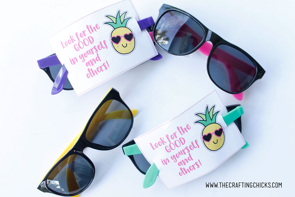Girls Camp Pillow Treat Tropical Sunglasses Free Printable
