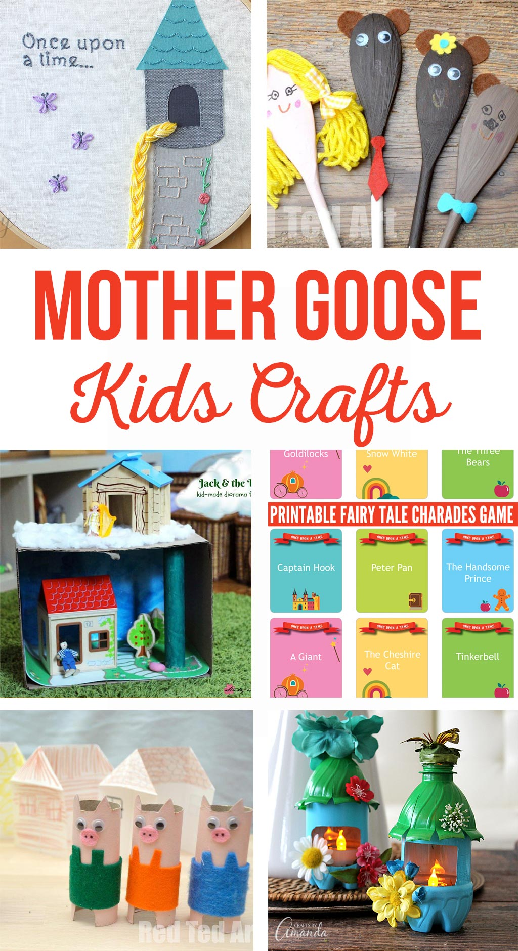 Mother Goose Kids Crafts | These kids crafts and activities go along with Mother Goose Nursery Rhymes and Fairy Tales. Simple activities for school or home. #mothergoose #mothergoosecrafts #kidscrafts #kidsactivities #fairytalecrafts