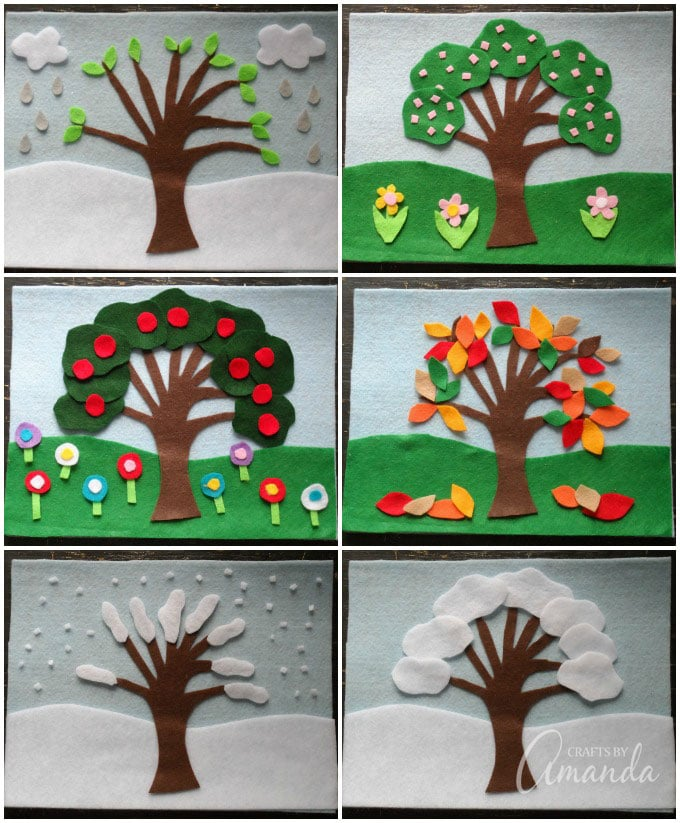 Four Seasons Felt Board Craft
