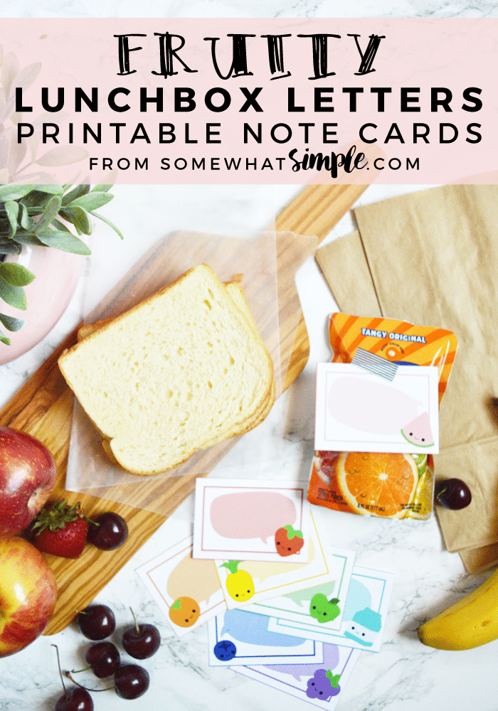 Fruity Lunchbox Letters Printable Note Cards | Send your kids back to school feeling extra special with these fruity lunch box notes! #backtoschool #printable #lunch #notes