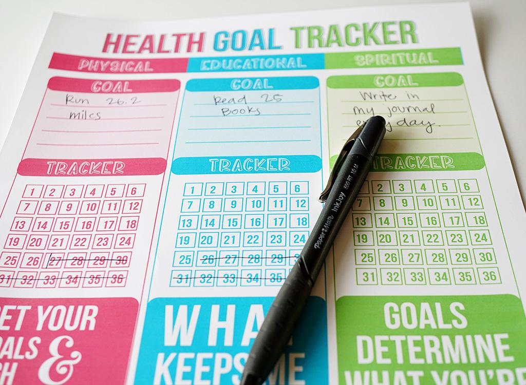 Healthy Life Goal Tracker