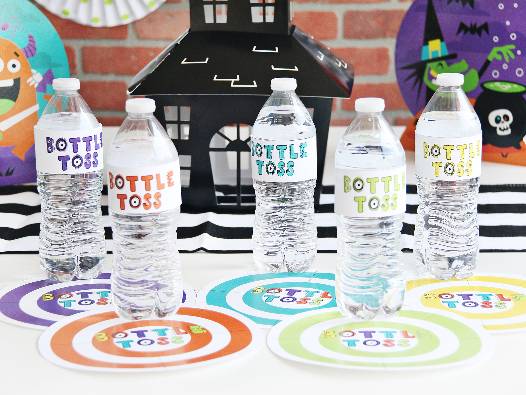 Halloween Bottle Toss Class Party Game