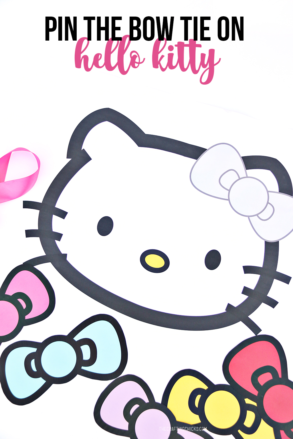 Pin the Bow on Hello Kitty Free Printable