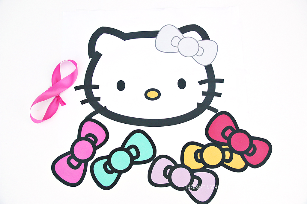 Pin the Bow on Hello Kitty