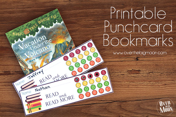 printable punch card bookmarks