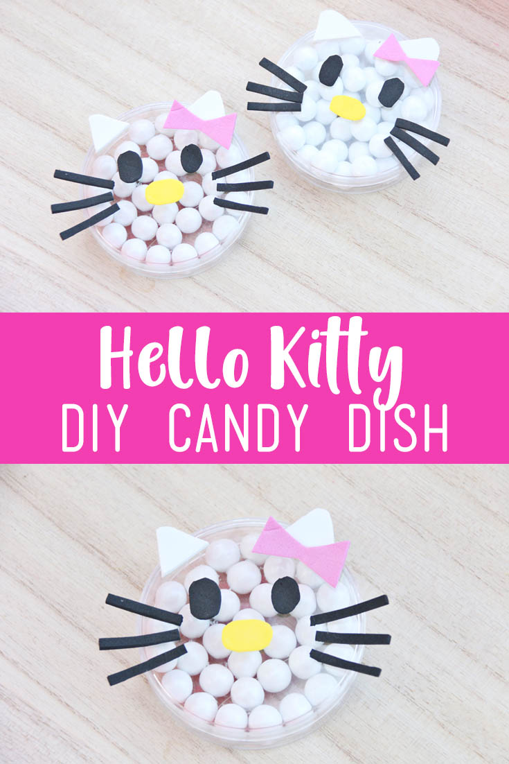 Hello Kitty DIY Candy Dish for a Hello Kitty party