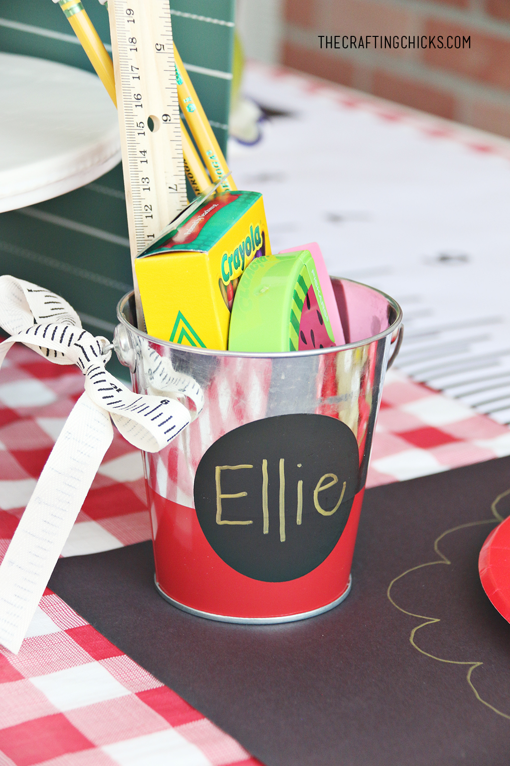 Personalized Back to School gift idea on table