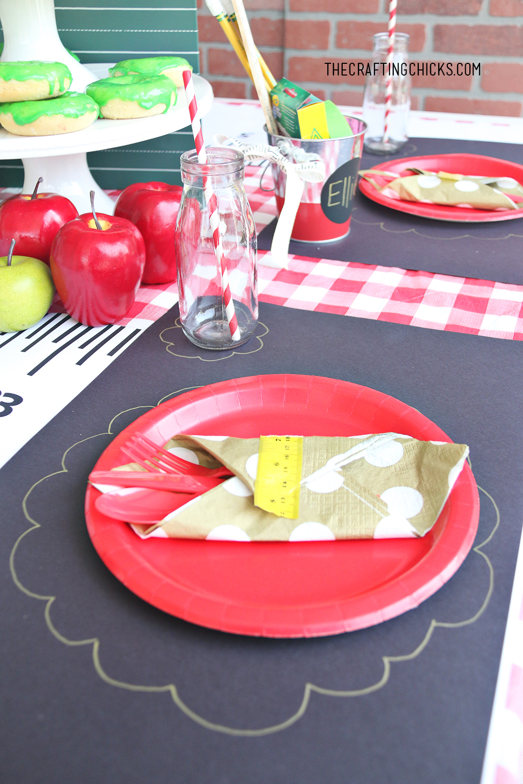 Back to School Place setting for back to school party.