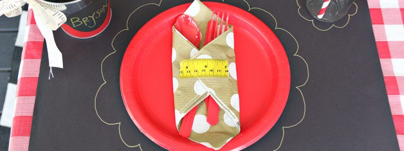Back to School Place Setting