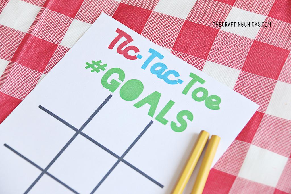 Back to School Goal Setting Tic-Tac-Toe