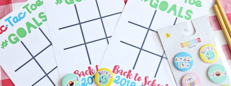 Back to School Goal Setting Tic-Tac-Toe