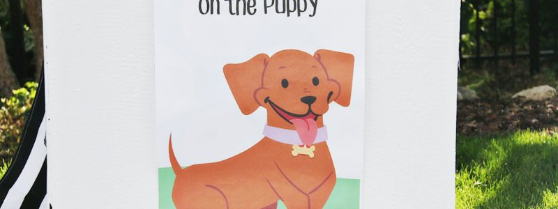 Pin the Tag on the Puppy Printable