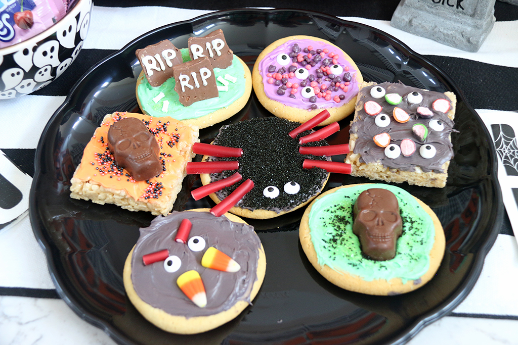 Decorated Monster cookies
