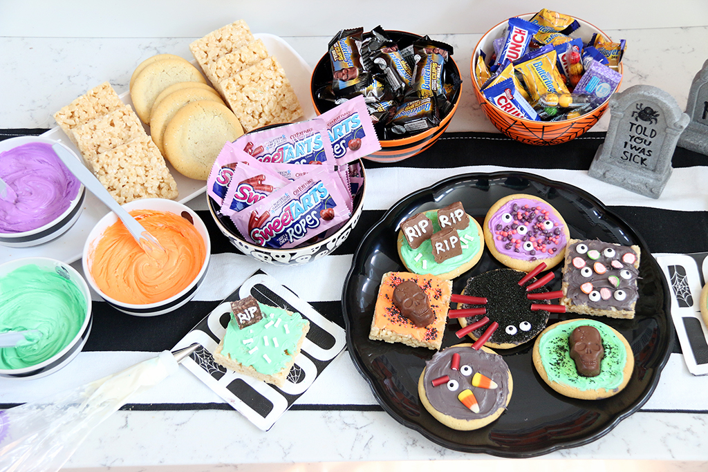 Monster Cookie bar supplies on table