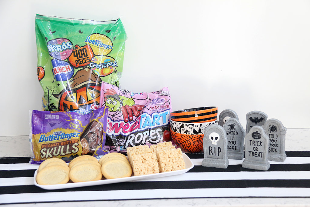 Supplies needed for a Monster Cookie decorating party