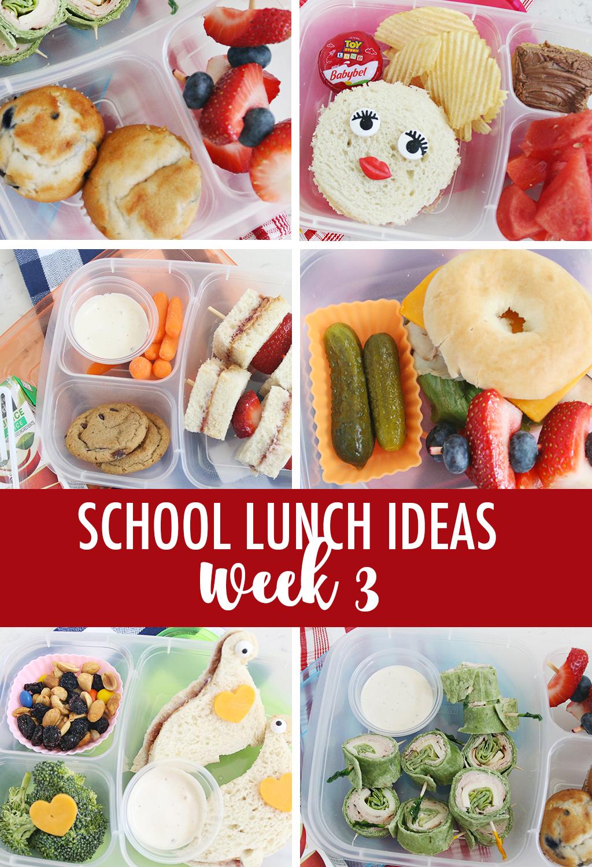 Lunch Ideas for School Week 3