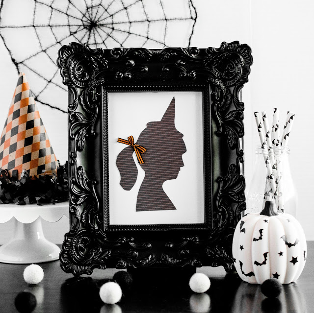 Little Witch Silhouette Halloween Decor