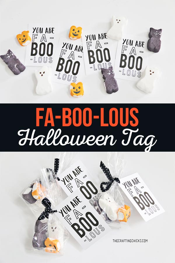 Fa-Boo-Lous Halloween Treat Tag