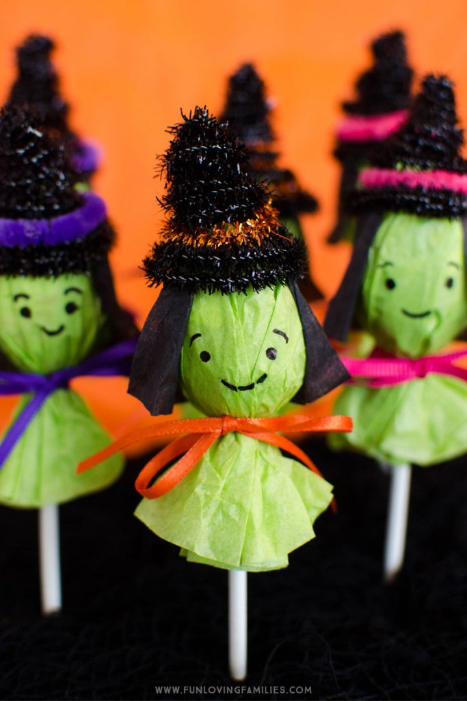 Halloween lollipop witches