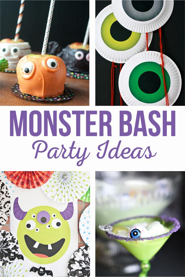 Monster Bash Party Ideas | Halloween is the perfect time for a Monster Party with your favorite ghouls & goblins.  Don't miss these simple, fun party ideas! #halloweenparty #monsterparty #monsterbash