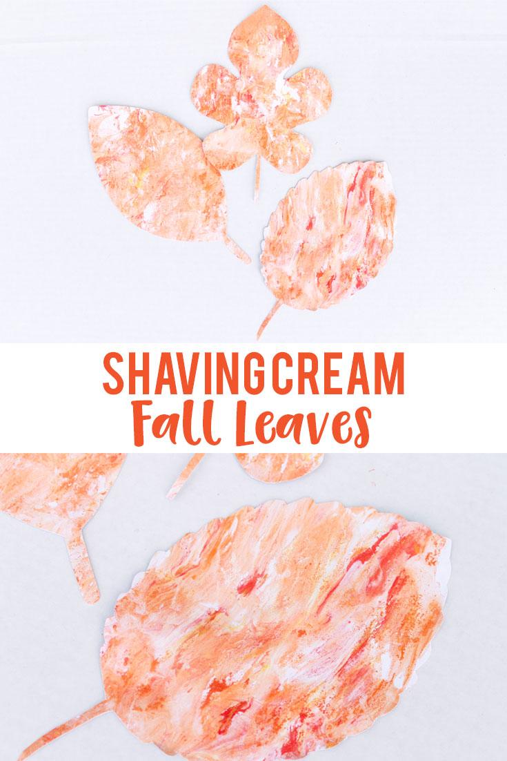 Shaving Cream Fall Leaves
