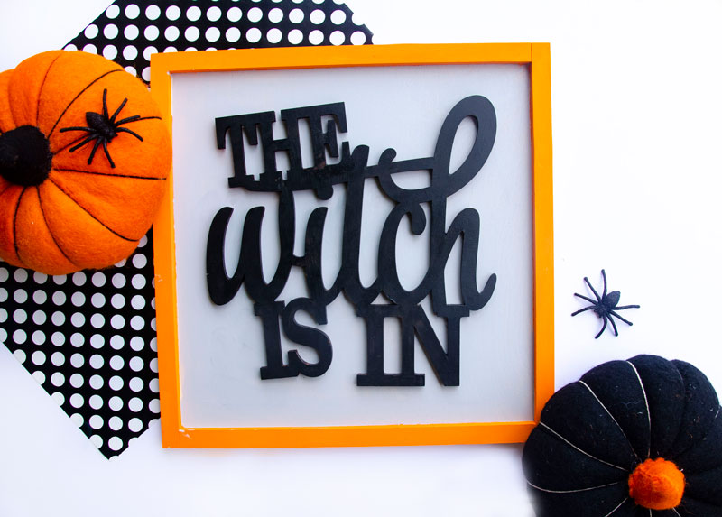 DIY Witch Sign Tutorial