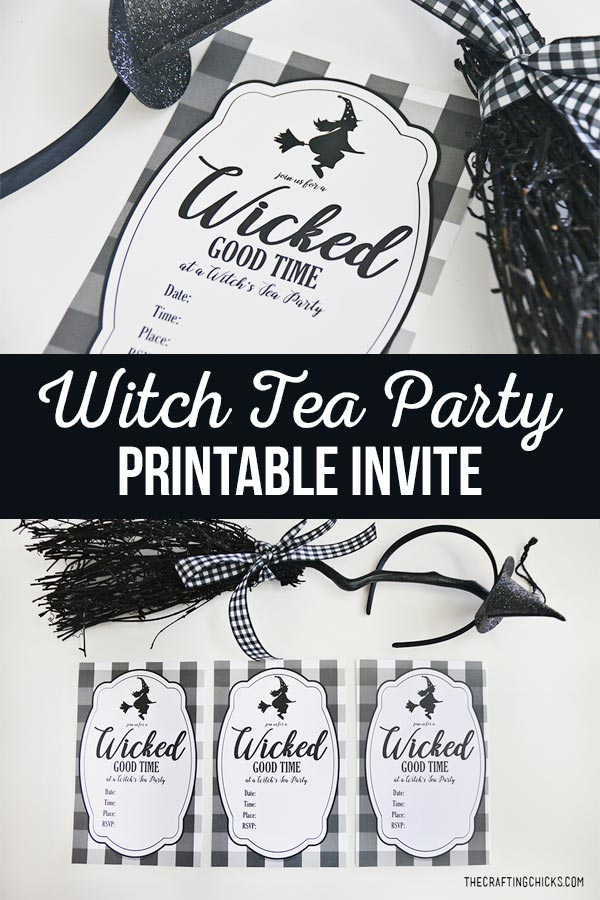 Witch Tea Party Printable Invite